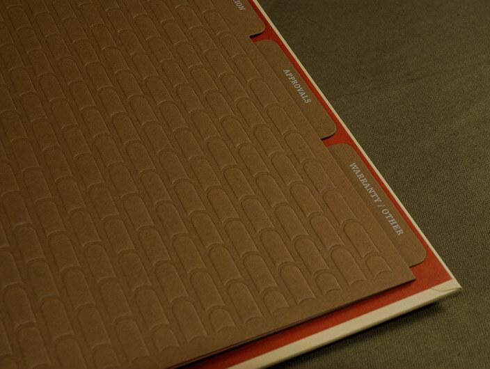 StudioConover - Redland Clay Tile | Redland Clay Tile binder close-up
