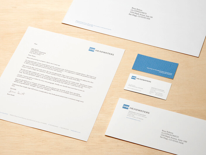 StudioConover - Headwaters, Inc. | Headwaters Stationery