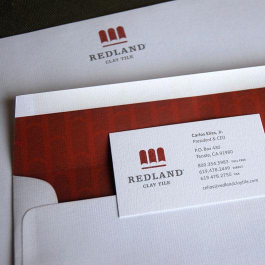 StudioConover - Redland Clay Tile | Redland Clay Tile stationery close-up
