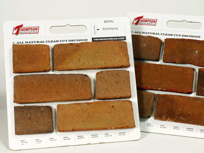 StudioConover - Thompson Building Materials   Thompson Building Materials sample boards