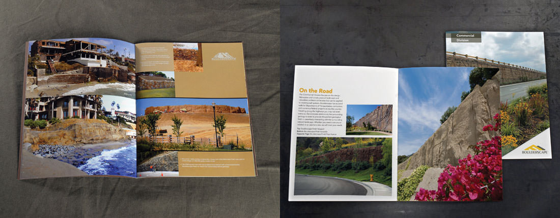 Studio Conover - Boulderscape | Boulderscape brochure before and after