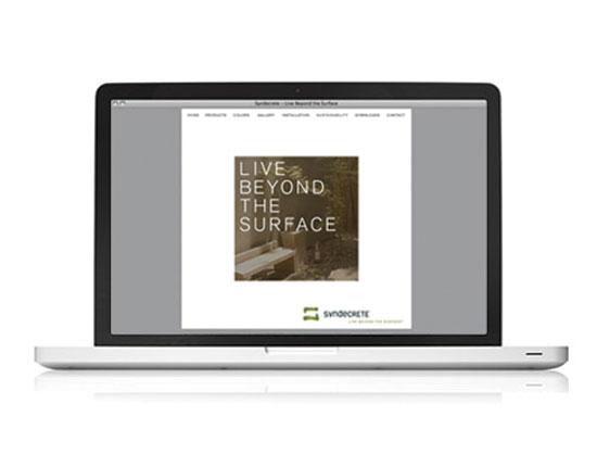 StudioConover - Syndecrete | Syndecrete website after