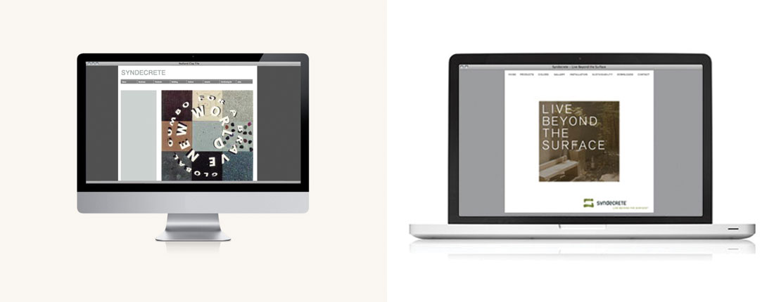 StudioConover - Syndecrete | Syndecrete website before and after
