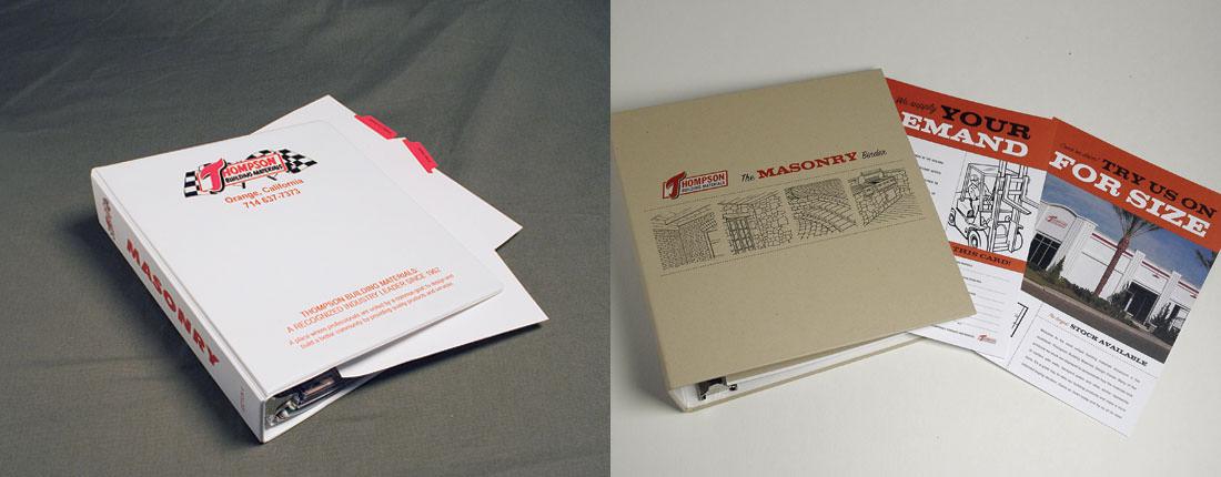 StudioConover - Thompson Building Materials   Thompson Building Materials Binder Before and After