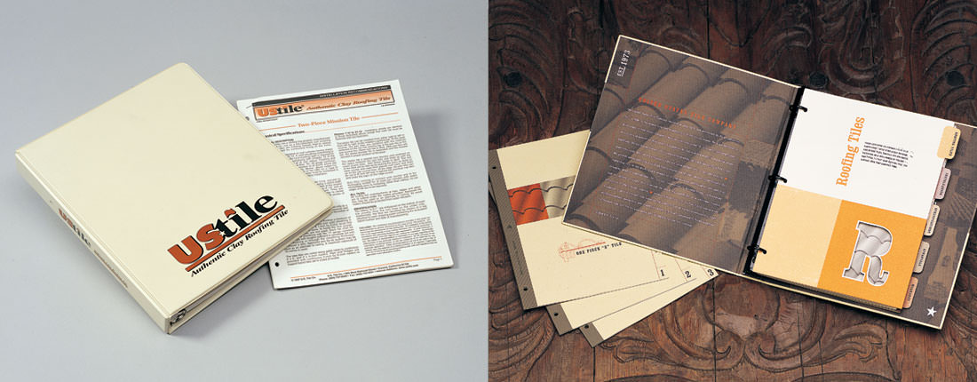 Studio Conover - US Tile | US Tile binder - before and after