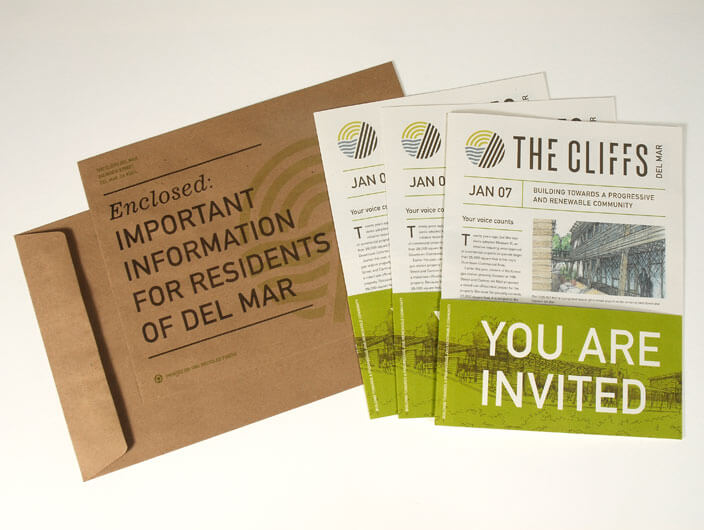 Studio Conover - Print and Packaging | The Cliffs Del Mar collateral