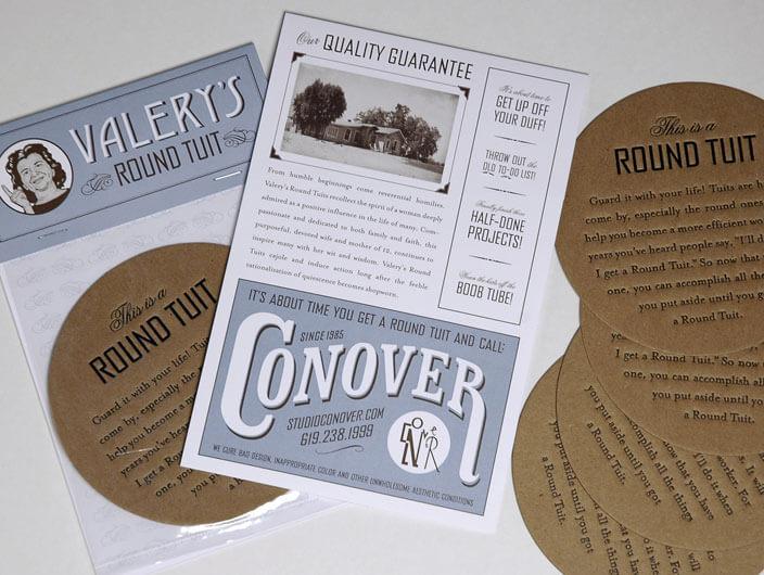 Studio Conover - Self Promotion | Studio Conover Round Tuit