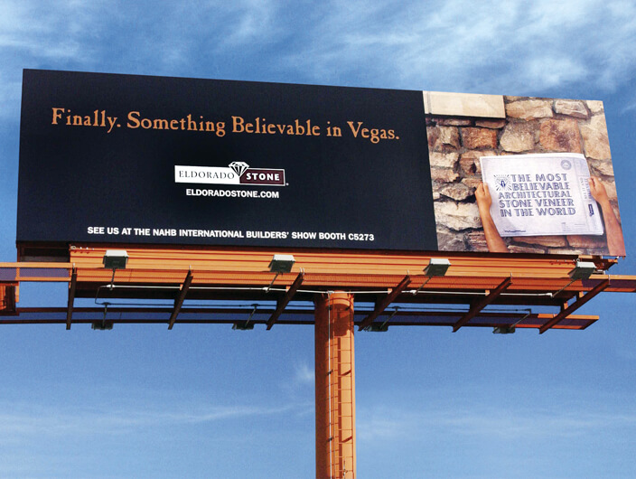 StudioConover - Advertising Design | Eldorado Stone Bilboard