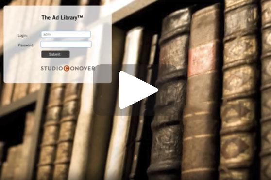 StudioConover - Video | STUDIO CONOVER: The Ad Library
