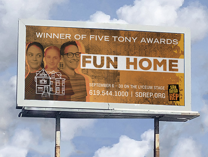StudioConover - Advertising Design | SDREP Fun Home Billboard