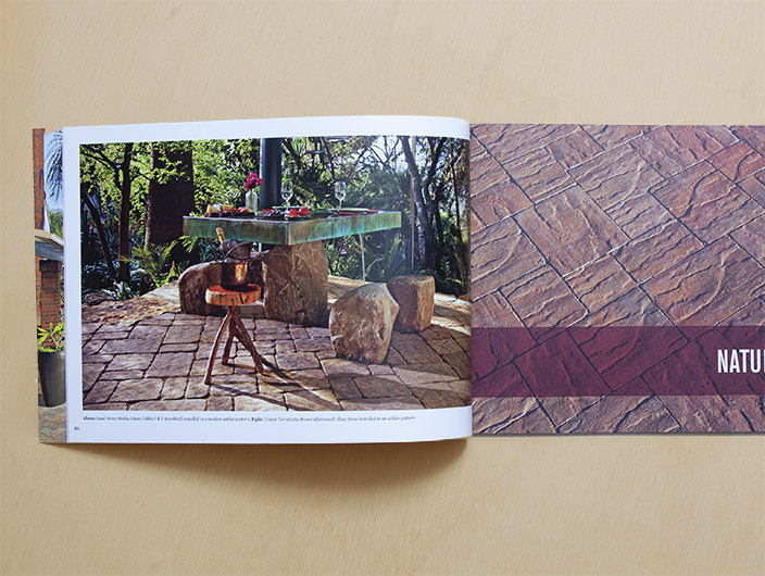 StudioConover - Angelus Paving Stones   Angelus Paving Stones Brochure Spread