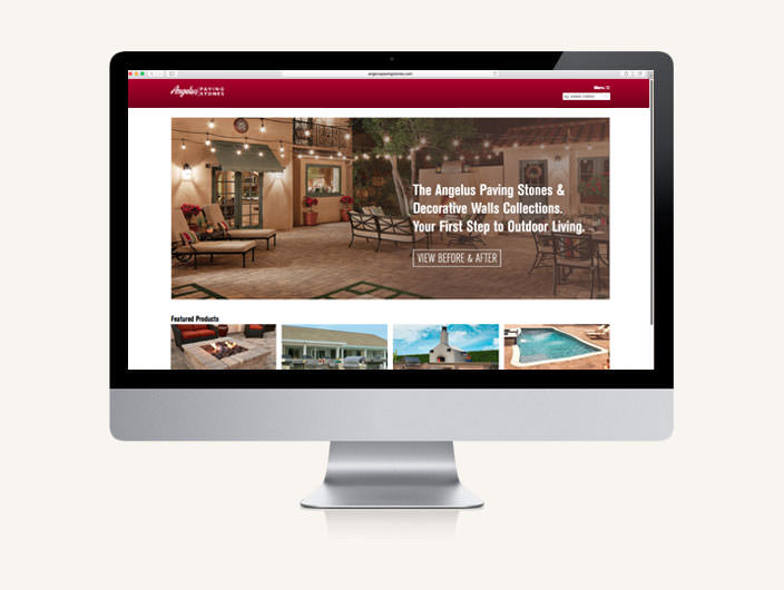 StudioConover - Angelus Paving Stones   Angelus Paving Stones responsive website