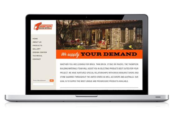 StudioConover - Web Development | Thompson Building Materials website