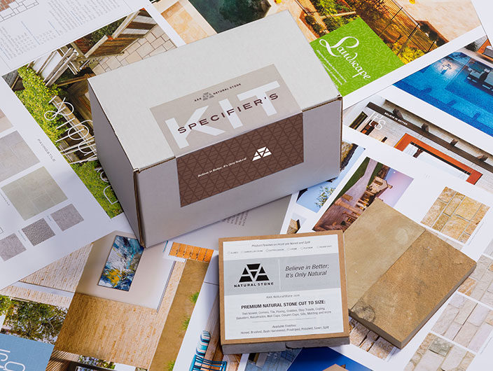 StudioConover - AAA Natural Stone   AAA Specifier Box and Samples